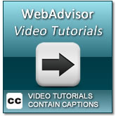 How to use WebAdvisor Video Tutorials